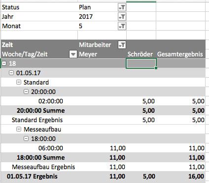 Pivot Tabelle zu viele Ergebnisse in Zeilen