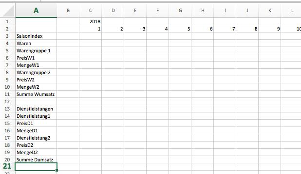 Finanzplanung mit Excel - Umsatzplanung 1