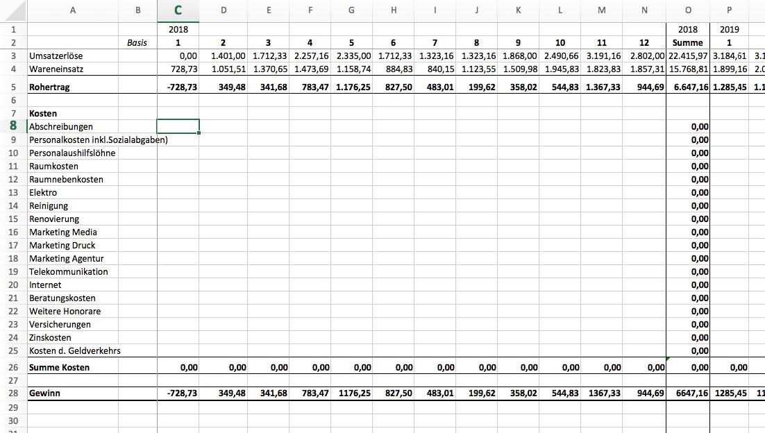6. Eine Finanzplanung über 3 Jahre mit Excel erstellen – Winfrid ...